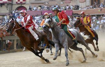 horse rider Palio Siena