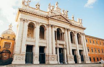 basilicas and secret underground catacombs tou Rome Italy